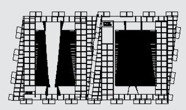 Рис.9. Топологии частотно-селективного СВЧ-модуля ЧСМ-2 в формате для фотонаборной установки ЭМ-559