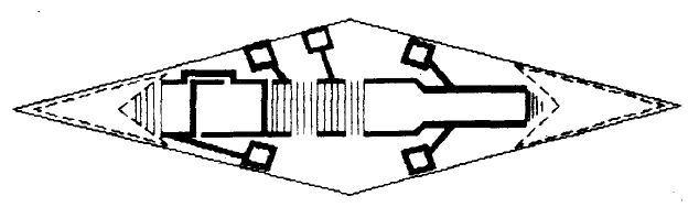 Топология телевизионного фильтра стандарта М, имеющего волноводную структуру.