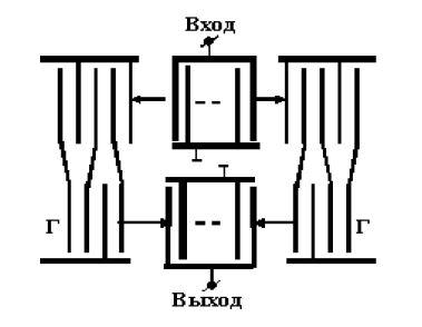 Базовая конструкция ПАВ-фильтра на основе РМПО