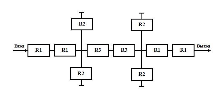 Базовая конструкция ПАВ-фильтра на основе структуры импедансного типа