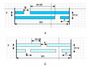 Структура типового ВШП (а) и ВШП с последовательно включенными секциями (б)