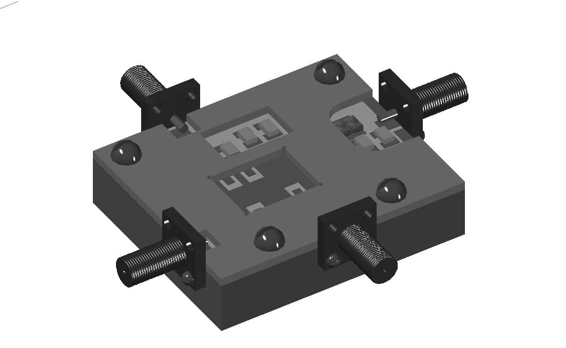 Рис 2. 3D модель контактного устройства (выполнена с помощью AutoCAD 2014)